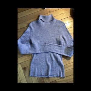 Tops - Silver & Gray Glittery Turtleneck